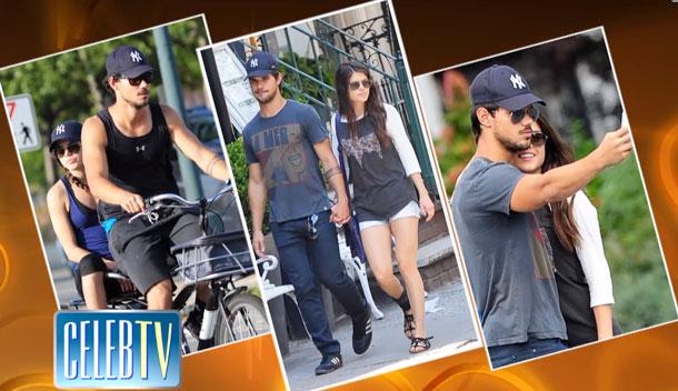Taylor Lautner và Marie Avgeropoulos trở thành cặp đôi mới ở Hollywood sau khi phim đóng máy.