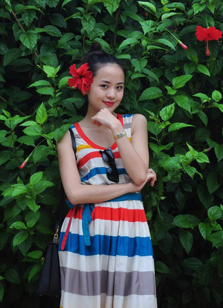 Cô gái thời tiết Ngọc Bích (ảnh: FB nhân vật)