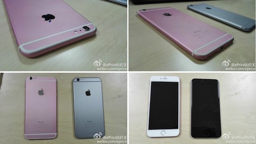 Hình ảnh chiếc iPhone màu hồng được chia sẻ trên trang Weibo