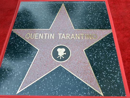 Ngôi sao mang tên Quentin Tarantino trên Đại lộ Danh vọng. (Ảnh: USA Today)