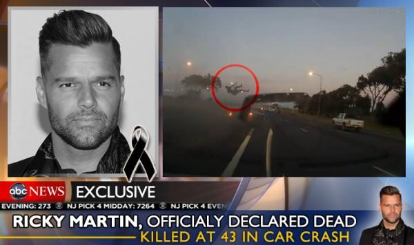 Tin đồn Ricky Martin qua đời với hình ảnh trong video.