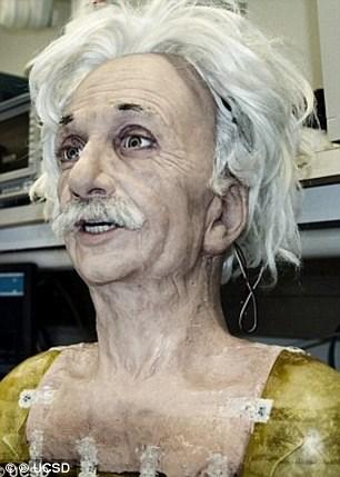 Robot với gương mặt của nhà bác học Einstein