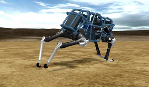 Robot Cheetah do công ty Boston Dynamics chế tạo có khả năng bắt chước chuyển động của một con báo. Nó chạy nhanh hơn con người, với tốc độ đạt 45,5 km/h