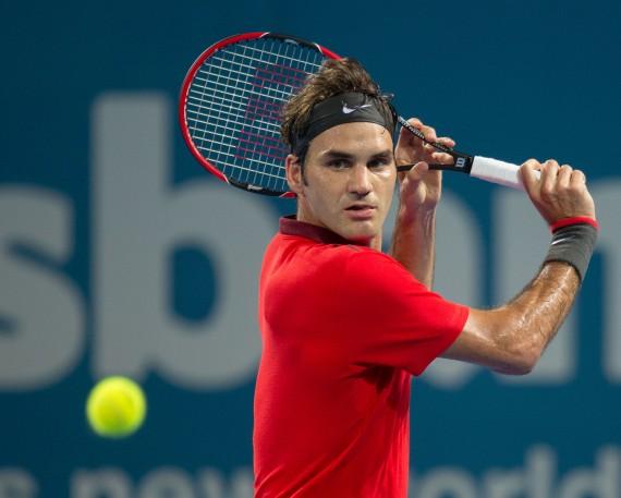 Roger Federer khá vất vả mới vào được vòng tứ kết ATP Brisbane International 2015