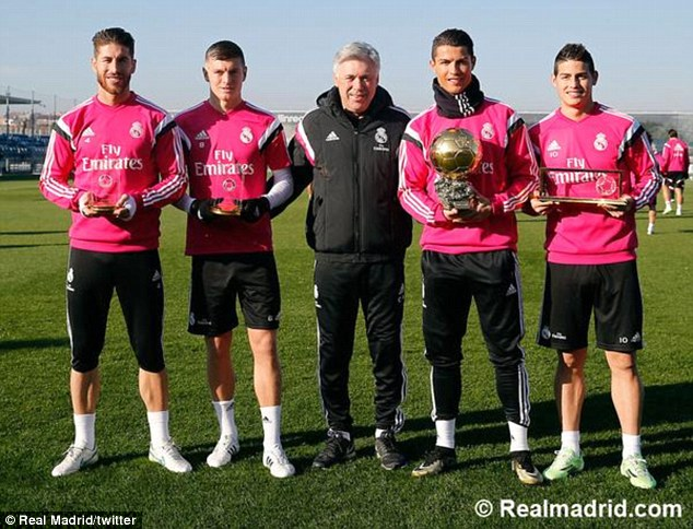 4 giải thưởng mà Real có được từ lễ trao giải Quả bóng vàng