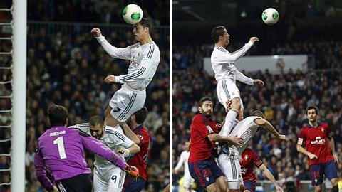 Pha bật cao đánh đầu ấn tượng của C.Ronaldo được ví như... siêu nhân.