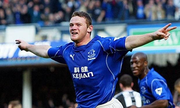 Rooney tỏa sáng trong màu áo Everton trước khi sang Man Utd.
