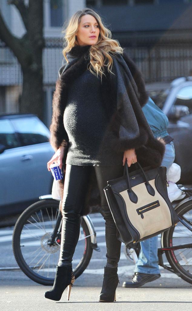 Blake Lively trông vẫn thời trang khi mang bầu.