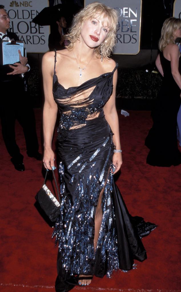 Courney Love tả tơi khi xuất hiện trong bộ váy không thể rách nát hơn tại lễ trao giải Quả Cầu Vàng