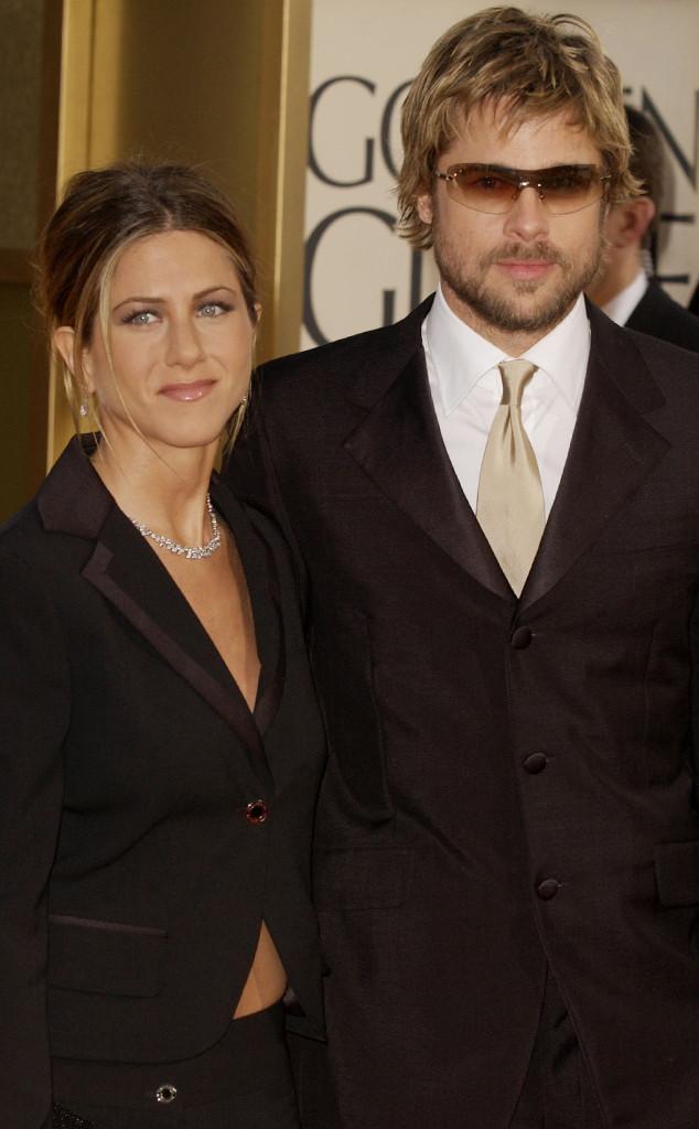Brad Pitt và Jennifer Aniston thuở còn mặn nồng bên nhau.