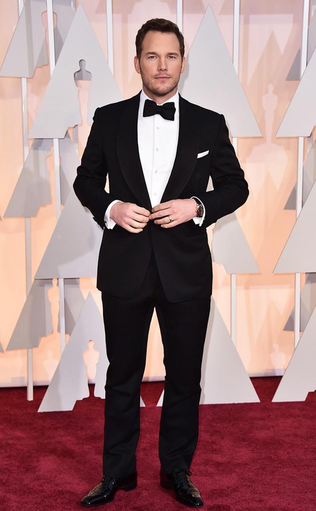 Vẫn là sắc đen quen thuộc nhưng diễn viên Chris Patt lại chọn cho mình bộ vest đến từ nhà thiết kế lừng danh Tom Ford