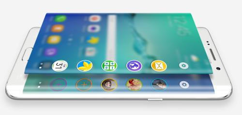 Tính năng mới cho phép gán biểu tượng ứng dụng trên phần viền cong