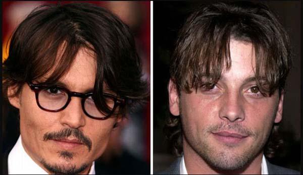 Tài tử Johnny Depp trông như người anh ruột của diễn viên - đạo diễn Skeet Ulrich, từ gương mặt tới mái tóc.