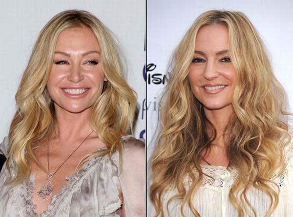 Nhìn vào hai bức hình, có lẽ điểm khác biệt duy nhất của Portia de Rossi và Drea de Matteo là một người là diễn viên Australia, một người là diễn viên Mỹ.