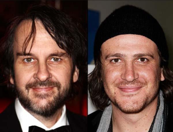 Đạo diễn Peter Jackson và nam diễn viên Jason Segel hệt như hai người anh em ruột thịt.