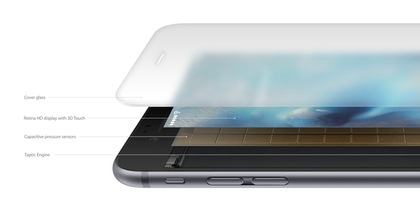 Apple bổ sung một lớp nền đặc biệt cho tính năng 3D Touch trên màn hình iPhone 6S và iPhone 6S Plus