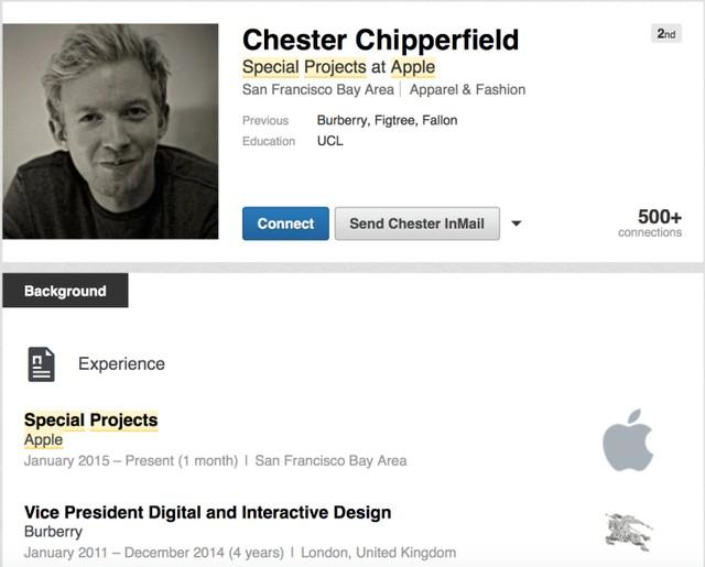Hình ảnh hồ sơ cá nhân mới của Chester Chipperfield - Phó chủ tịch phụ trách thiết kế tương tác và kỹ thuật số của hãng thời trang Burberry