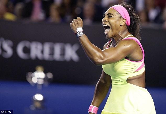 Càng đánh càng hay, Serena tỏ ra quá mạnh so với đối thủ xinh đẹp và tiến sát chức vô địch Úc mở rộng thứ 6 trong sự nghiệp.