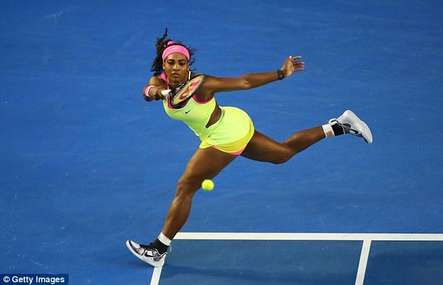 Serena đã thể hiện phong độ vượt trội trong set 1.