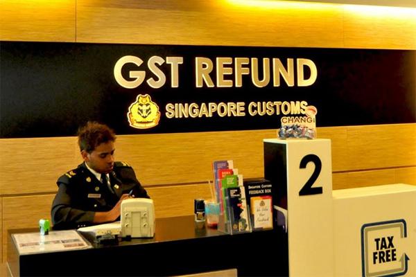 Du khách có thể khai hoàn thuế GST tại sảnh khởi hành của Sân bay Quốc tế Changi và Sân bay Seletar.