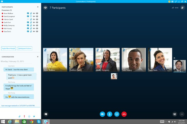Giao diện Skype for Business