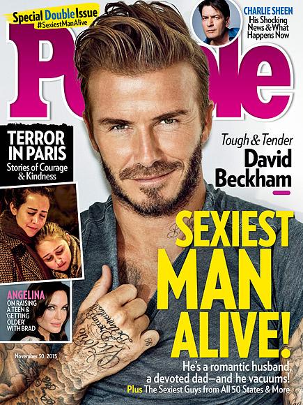 Hình ảnh cực quyến rũ của Beckham trên trang bìa tạp chí People