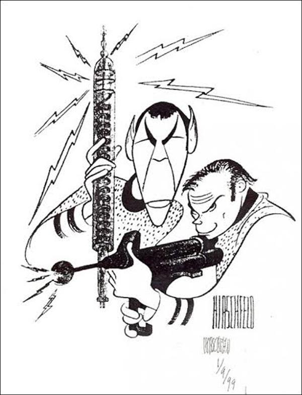 Bức tranh của nhà biếm họa nổi tiếng Al Hirschfeld.