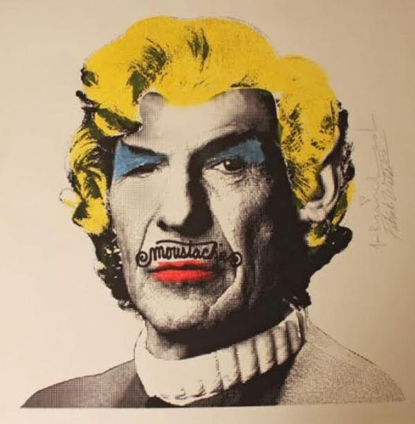 Tác phẩm độc đáo với hình ảnh Leonard Nimoy có bộ ria và mái tóc của Marilyn Monroe.