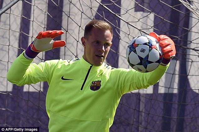 Thủ thành Stegen là người được bắt chính ở các trận đấu của Barca ở Champions League, sẽ tiếp tục được tin dụng trận tới?