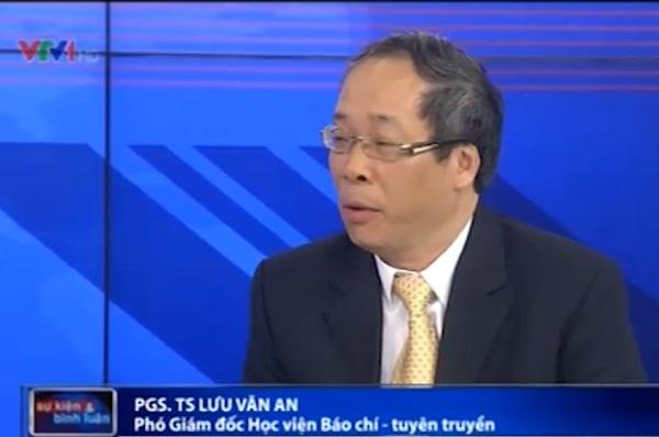 PGS. TS Lưu Văn An - Phó Giám đốc Học viện Báo chí Tuyên truyền