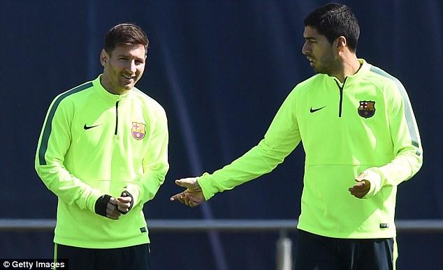 Ở trận đấu tới, Suarez và Messi được kì vọng sẽ tiếp tục chơi hay như trận lượt đi.