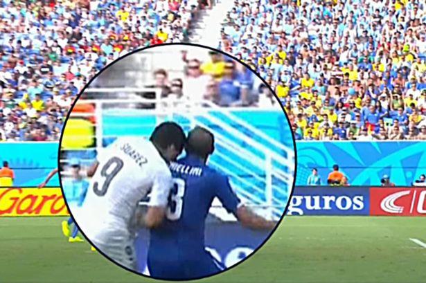 Lần thứ 3, Luis Suarez cắn Chiellini tại World Cup 2014