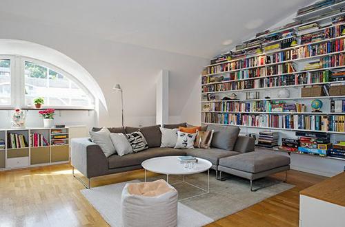 Nơi đây không chỉ là phòng nghỉ mà còn có thể làm phòng đọc sách.