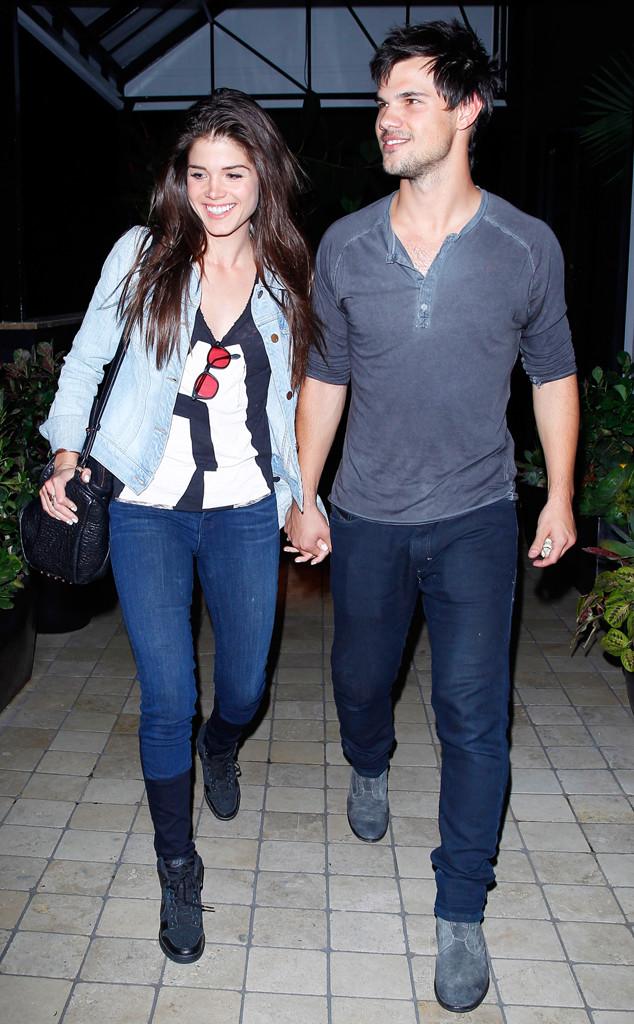 Taylor và Marie lúc còn hẹn hò.