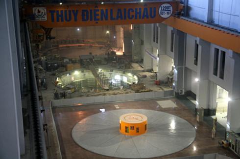 Tổ máy số 1 Thủy điện Lai Châu chính thức phát điện từ ngày 23/12. (Ảnh: Dân trí)