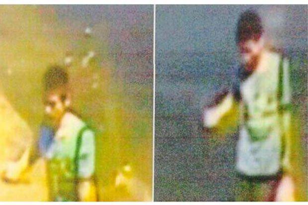 Hình ảnh của nghi phạm được ghi lại bởi camera CCTV