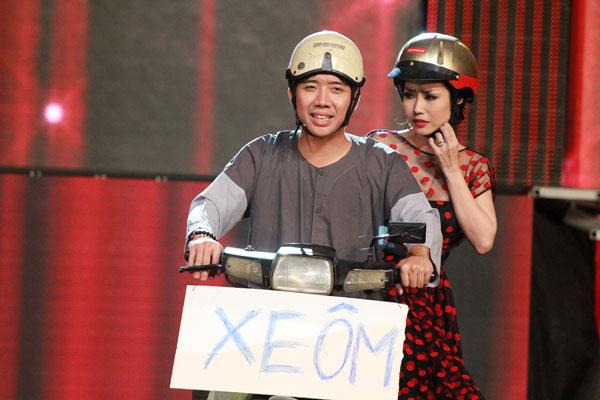Trấn Thành và Ốc Thanh Vân trong Đón Tết cùng VTV năm 2014.