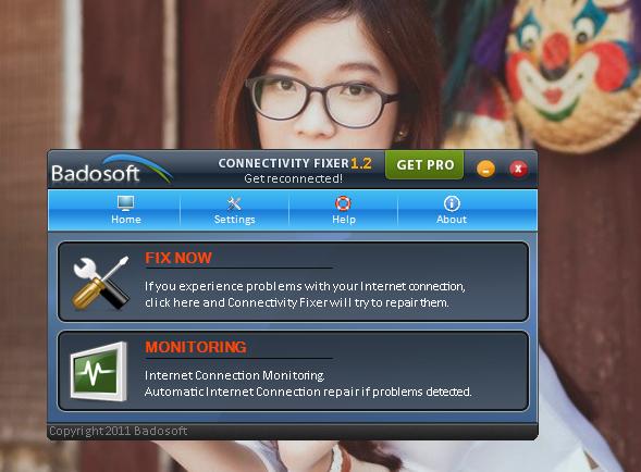 Nhấn vào Fix Now để xem xét quá trình hoạt động của Connectivity Fixer