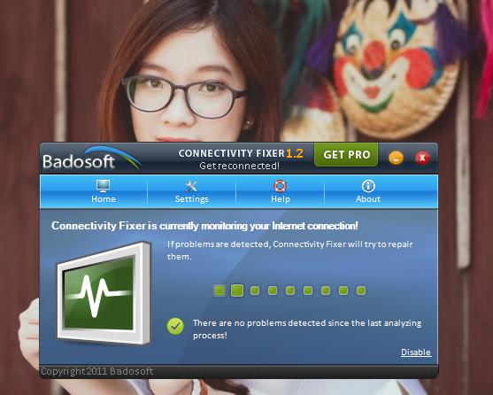 Tùy chọn Monitoring có chức năng theo dõi và đưa ra tình trạng hiện tại của kết nối trên máy tính