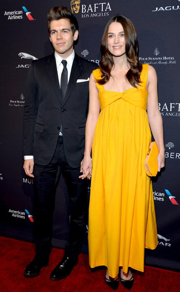 Nữ diễn viên nổi bật với đầm bầu màu vàng trong một buổi tiệc của Viện hàn lâm Nghệ thuật Điện ảnh và Truyền hình Anh Quốc (BAFTA).