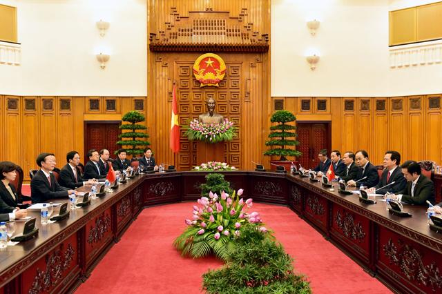 Thủ tướng Nguyễn Tấn Dũng tiếp Phó Thủ tướng Trung Quốc Trương Cao Lệ.