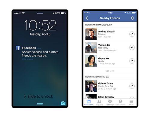 Facebook sẽ hiển thị bạn bè sử dụng Nearby Friends sau khi tính năng được kích hoạt