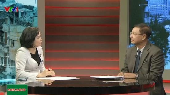 Ông Nguyễn Quang Khai tham gia bình luận trong chương trình Toàn cảnh thế giới