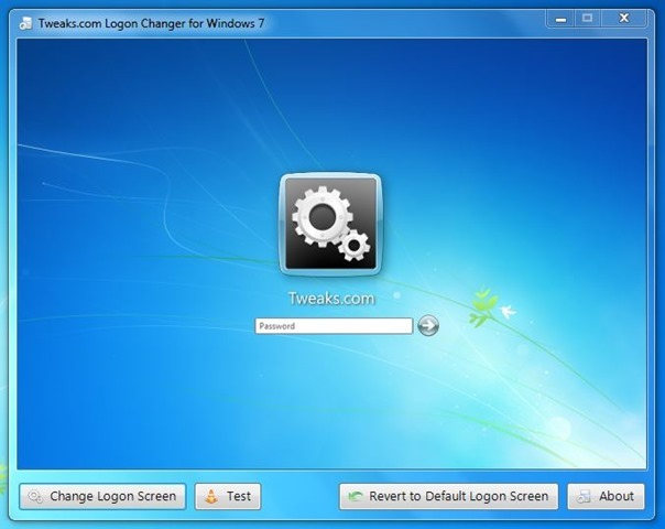 Tweaks.com Logon Changer