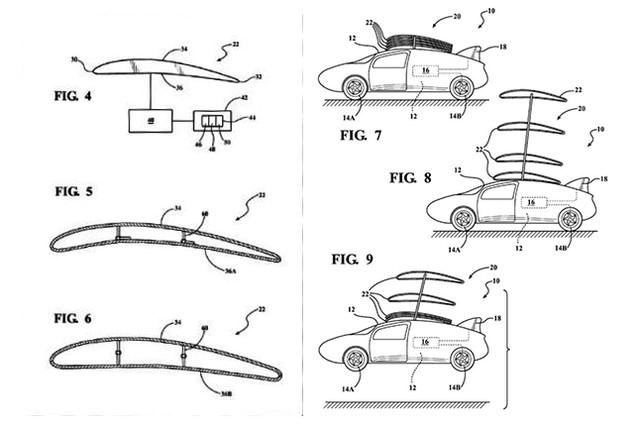 Bản vẽ mô tả thiết kế hệ thống cánh của Toyota dành cho mẫu xe Prius