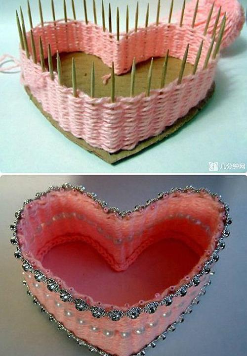 Chiếc hộp đựng đồ cho người bạn đời cũng có hình trái tim.
