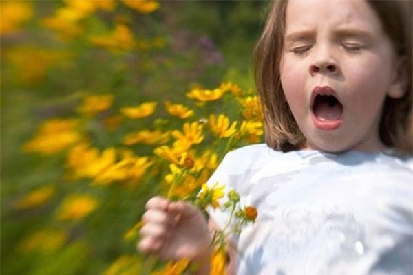 Trẻ có thể bị hen phế quản do dị ứng với phấn hoa. (Ảnh minh họa)