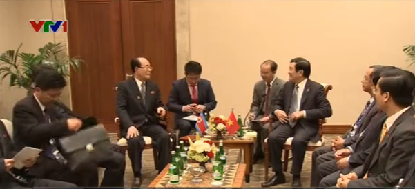 Chủ tịch nước hội kiến Chủ tịch UB Thường vụ Hội nghị nhân dân tối cao Triều Tiên