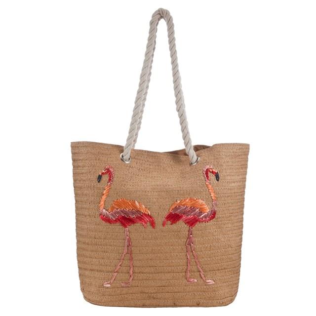 Túi cói hình hồng hạc của Matalan