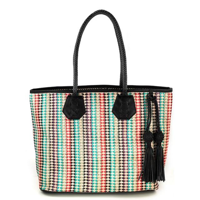 Túi cói kẻ sọc với nhiều màu sắc của Essentiel